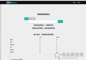 yamShare蕃薯藤來自台灣的老牌短網址支持二維碼和轉址分析