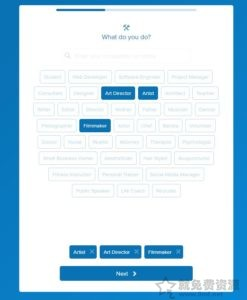 about.me快速創建個人頁面添加社交聚合信息