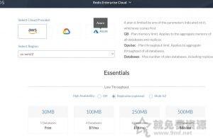 redislabs免费30MB容量redis数据库支持谷歌云亚马逊云等