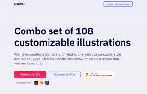 收录108种人物图案设计,Control Illustrations插图免费下载